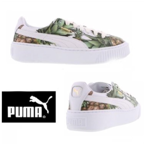 Puma Platform Pineapple White Sneakers Size 8.5.  M 5b1375069539f7b95f73c341. Other Shoes you may like. Fenty by Puma creepers  38 140fd70c1
